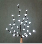 "Electric Lighted Flowers - ""Lighted White Cherry Blossom Branches"" - Small"