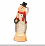 "Electric Shimmer Light - ""Snowman with Wreath Electric Shimmer Light"""