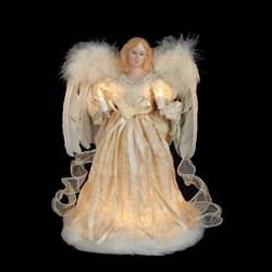 "Electric Tree Topper - ""Ivory Angel Tree Topper"" - 12"""