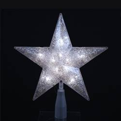 "Electric Tree Topper - ""Silver Star Tree Topper"" -7"""