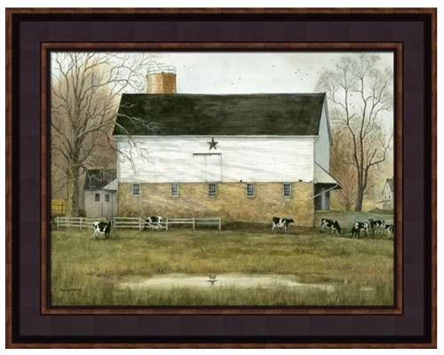 "Framed Picture - ""Black Star Barn"" - Artist Bonnie Fisher"