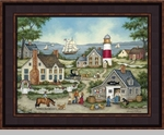 "Framed Picture - ""Buying Bait"" - Artist Bonnie White"