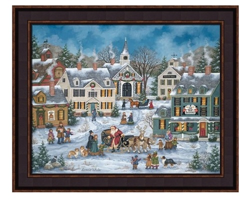 "Framed Picture - ""Christmas Spirit"" - Artist Bonnie White"