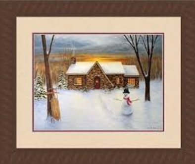 "Framed Picture - ""Country Christmas"" - Artist Kim Ehring"