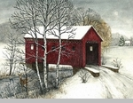 "Framed Picture - ""Covered Bridge"" - Artist Bonnie Fisher"