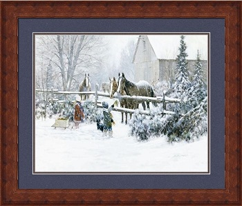"Framed Picture - ""Four Horses"" - Artist Doug Laird"