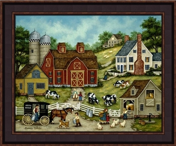 "Framed Picture - ""Fresh Milk"" - Artist Bonnie White"