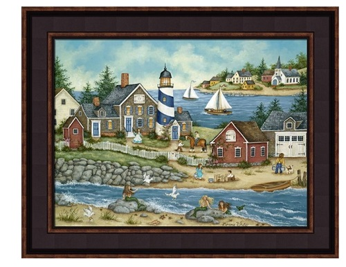 "Framed Picture - ""Mermaid Cove"" - Artist Bonnie White"