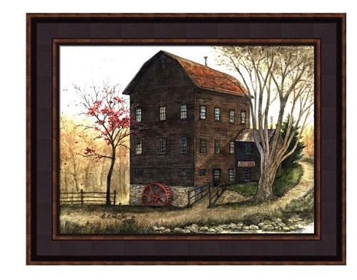 "Framed Picture - ""Mill"" - Artist Bonnie Fisher"