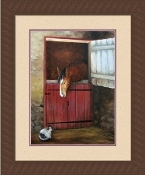 "Framed Picture - ""Room At The Stable"" - Artist Kim Ehring"