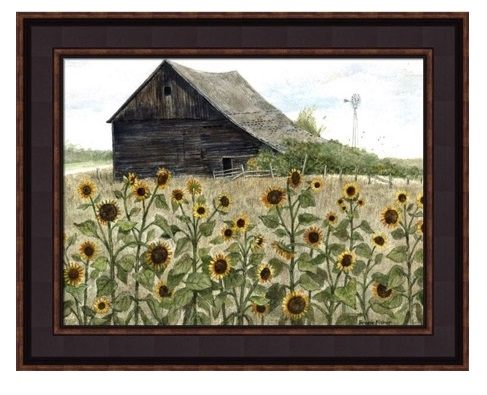 "Framed Picture - ""Sunflowers"" - Artist Bonnie Fisher"