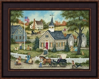 "Framed Picture  - ""Welcome Back to School""  - Artist Bonnie White"
