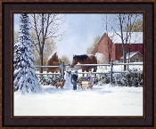"Framed Picture - ""Winter Time Fun"" - Artist Doug Laird"