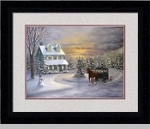 "Framed Picture - ""Winters Greetings"" - Artist Kim Ehring"