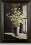 "Framed Print  - ""Daisies in Blue Pitcher Frame Print"" - 11"" x 17"""