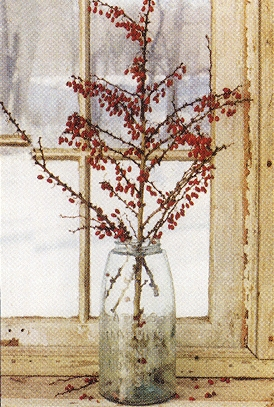 "Framed Print  - ""Glass Jar with Berries Framed Print"" - 11"" x 17"""