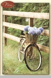 "Framed Print - ""Hydrangeas in Bicycle Basket Framed Print""  - 11"" x 7""  Table Top Frame"