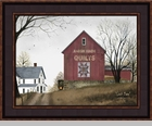 "Framed Print - ""Quilt Barn""  -  Artist Billy Jacobs"
