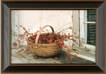 "Framed Print  - ""Rosberries in Basket Framed Print"" - 11"" x 17"""