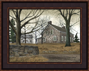 framed print stone cottage artist billy jacobs