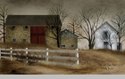 "Framed Print  - ""The Old Stone Barn""  -  Artist Billy Jacobs"