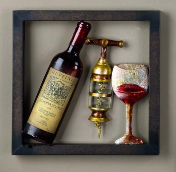 "Framed Wall Art - ""Red Wine"""