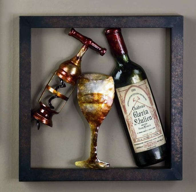 "Framed Wall Art - ""White Wine"""