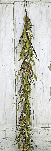 "Garland - ""Mixed Country Flower Garland - Teastain"" - 4ft"