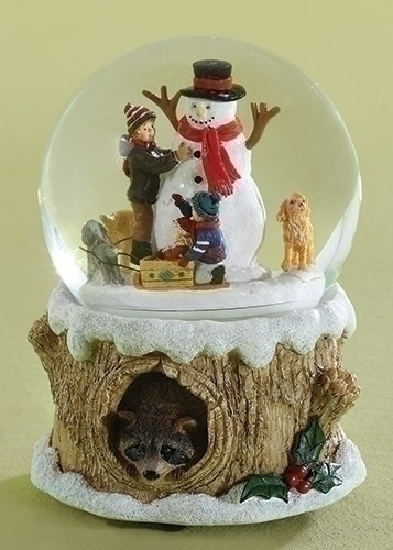 """Glitterdome - """"Snowman With Children And Dogs"""" - Musical"""