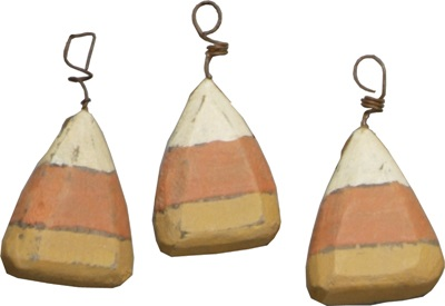 "Halloween Ornament - ""Candy Corn Ornament"" - Set of 6"