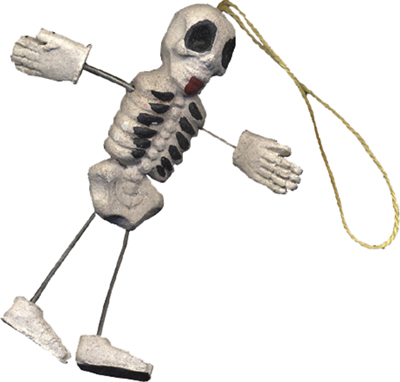 "Halloween Ornament - ""Skeleton Ornaments"" - Set of 12"