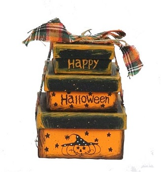 "Halloween Ornament - ""Stacked Boxes, Happy Halloween"""