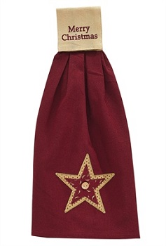 """Hand Towel - """"Merry Christmas With A Star Hand Towel"""""""