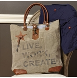 "Handbag - ""Mona B - Live, Work, Create Tote Bag"""