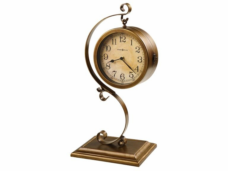 "Howard Miller Table Top Clock  - ""Jenkins""  - Double Sided"