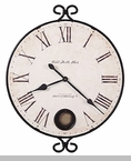 "Howard Miller Wall Clock - ""Iron Round - Magdalen"""