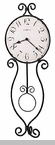 "Howard Miller Wall Clock - ""Wrought Iron Clock - Loretta"""