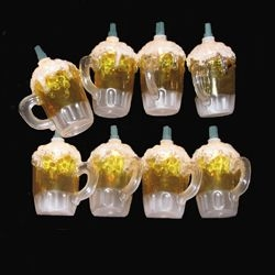Mini Bulb String Lights - Beer Mug - Electric/Green Cord - Standard Grade Indoor/Outdoor - Set of 10