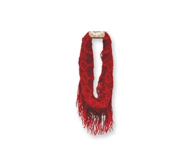 "Infinfity Scarf - ""Infinity Fringe Scarf - Red"""
