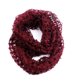 """Infinity Scarf - """"Infinity Scarf Mesh And Sequins"""""""