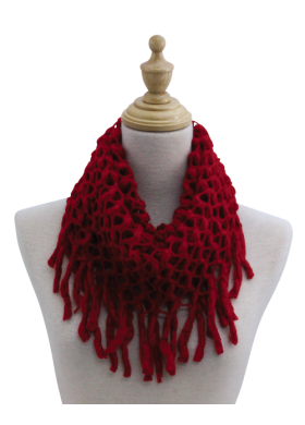 """Infinity Scarf - """"Open Weave Red"""""""