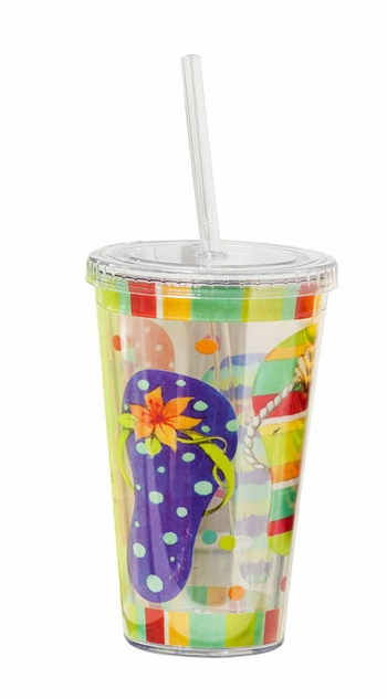 Insulated Cup With Straw - 17oz.