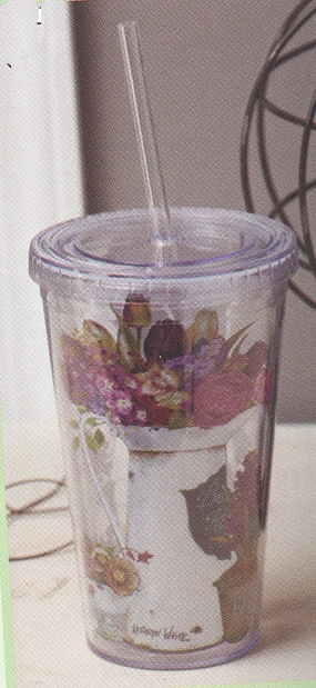 """Insulated Cup With Straw - """"Du Marais"""""""