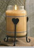 "Jar Candle Holder - ""Heart Jar Candle Holder"""