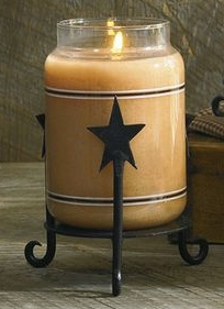 "Jar Candle Holder - ""Star Jar Candle Holder"""