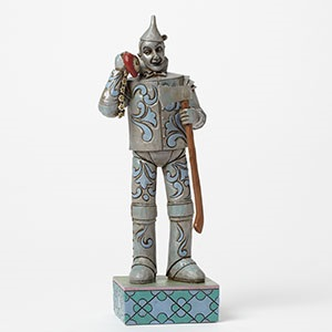 "Jim Shore Figurine - ""If I Only Had A Heart - Tin Man With Heart Clock  Figurine"""