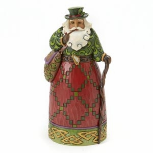 "Jim Shore Figurine - ""Irish Santa Figurine"""