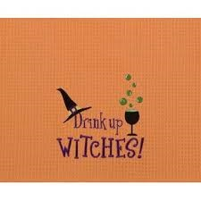 "Kitchen Towel - ""Drink Up Witches Kitchen Towel"""