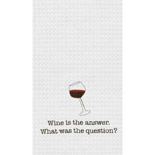 "Kitchen Towel - ""Wine Is The Answer ...Kitchen Towel"""