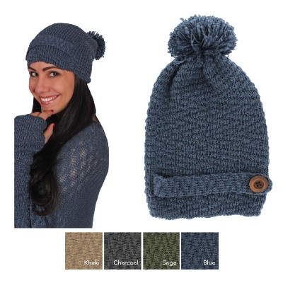 """Knit Hat - """"Knit Hat With A Button"""""""